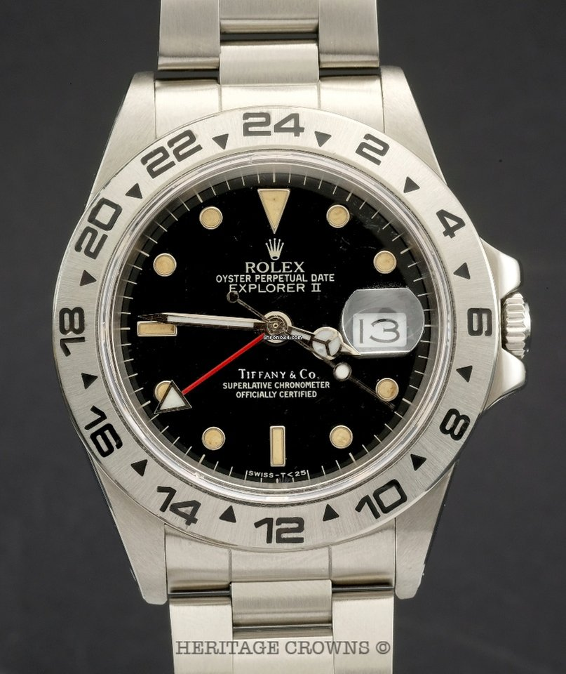 another chance fd59d 91e38 ロレックス Explorer II ref 16550 Retailed by Tiffany & Co ...