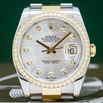 Rolex 116243 Datejust MOP Dial Diamond Bezel 18K/SS (27457)