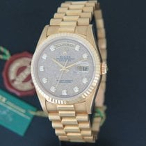 Rolex Day-Date Yellow Gold 18238 N.O.S. Fossil / Jurassic Park...
