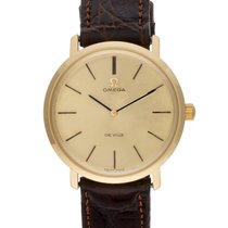 Omega DeVille Co-Axial in 18k YG 111067 Champagne dial 33mm...