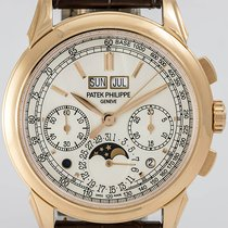 Patek Philippe Red gold Manual winding pre-owned Perpetual Calendar Chronograph