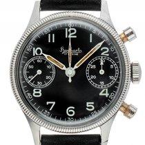 Hanhart Military Chronograph Flyback Stahl Handaufzug Armband...
