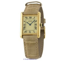 Cartier Tank Vermeil Yellow gold 23mm Champagne Roman numerals United States of America, California, Newport Beach