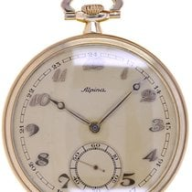 Alpina Watch pre-owned 1935 Yellow gold 47.4mm Arabic numerals Watch only