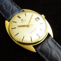 Omega Yellow gold Manual winding Silver No numerals 34mm pre-owned Genève