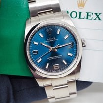 Rolex Oyster Perpetual 34 Steel 34mm Blue Arabic numerals United Kingdom, London