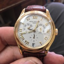 Patek Philippe Yellow gold Automatic White Roman numerals 37mm pre-owned Annual Calendar