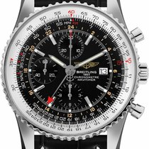 Breitling Navitimer GMT Steel 46mm Black No numerals United States of America, New York, New York