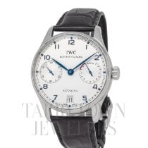 IWC Portuguese Automatic pre-owned 42mm Silver Date Fold clasp