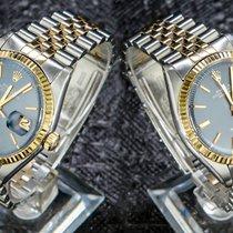 Rolex Datejust Goud/Staal 36mm Blauw Geen cijfers Nederland, 'S-Hertogenbosch