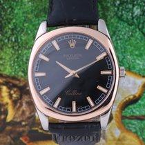 Rolex Cellini Danaos Witgoud 38mm Zwart Geen cijfers