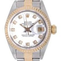 Rolex Ladies Rolex Datejust Watch 69173 Factory White Diamond...
