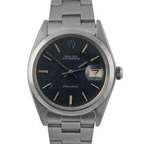 Rolex Oysterdate  Steel with Blue / Grey Lattice Dial 6694