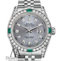 Rolex Lady-Datejust Сталь 26mm Cерый Без цифр
