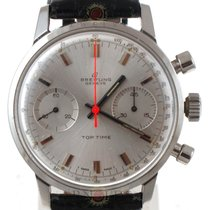 Breitling Vintage Top Time Chronograph Silver Dial Orange Hand