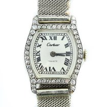 Cartier Vintage Cartier Ladies Diamond Tortue Platinum On Gay...