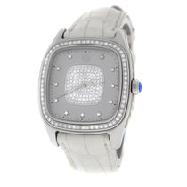 David Yurman Ladies  Thoroughbred T303-SST Steel 32MM Pave...