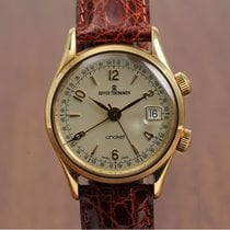 Revue Thommen Cricket 50's Style 18K Gold NEW OLD STOCK