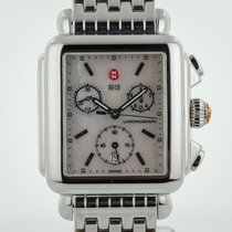 Michele Deco, MW06A00, Chronograph, MOP Dial, Steel