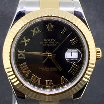 Rolex Datejust II 41MM Gold/Steel Black Roman Dial, Full Set 2010
