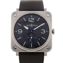 Bell & Ross Aviation 39mm Date Black Dial Steel