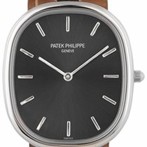 Patek Philippe 31.1mm Automatic 2008 pre-owned Golden Ellipse Grey