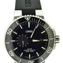 Oris Steel Automatic Blue 45.5mm pre-owned Aquis Small Second