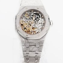 Audemars Piguet Royal Oak Double Balance Wheel Openworked White gold 37mm Transparent No numerals United States of America, New York, New York