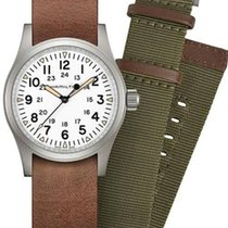 Hamilton Khaki Field Steel 38mm White