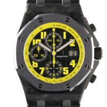 Audemars Piguet Royal Oak Offshore Chronograph tweedehands 42mm Zwart Chronograaf Datum Krokodillenleer