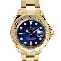 Rolex Yacht-Master pre-owned 35mm Blue Yellow gold