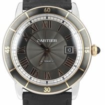 Cartier Ronde Croisière de Cartier Steel 42mm Silver Roman numerals United States of America, New York, Lynbrook
