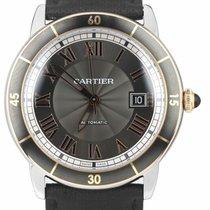 Cartier Ronde Croisière de Cartier pre-owned 42mm Silver Date Steel