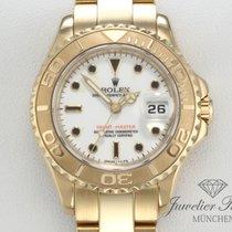 Rolex Yacht-Master Oro amarillo 29mm Blanco Sin cifras