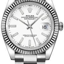 Rolex Datejust 126334-WHTSO Ny Stål 41mm Automatisk