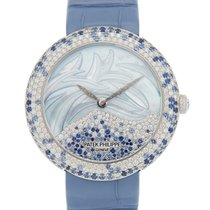 Patek Philippe Calatrava White gold 35.8mm Blue