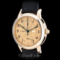 L.Leroy Men's Watch Osmior 18K Rose Gold Monopusher Chronograph