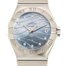 Omega Constellation Stainless Steel Blue Automatic 123.10.27.2...
