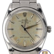Rolex Oyster Perpetual Air-King Silver Patina Stainless 5500 34mm