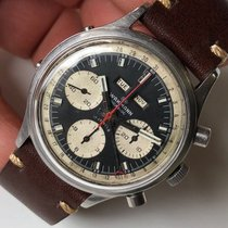 Wakmann Chronograph 39mm Manual winding 1960 pre-owned Black