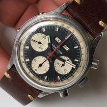 Wakmann Chronograaf 39mm Handopwind 1960 tweedehands Zwart
