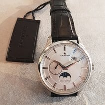 Zenith Captain Moonphase Acier 40mm Blanc
