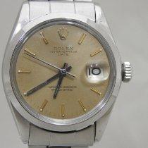 Rolex Oyster Perpetual Date Acier 34mm Brun Sans chiffres