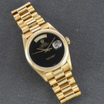 Rolex Day-Date Yellow gold 36mm Black No numerals