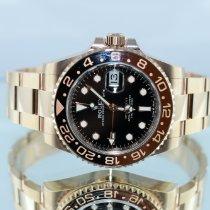 Rolex Pозовое золото Автоподзавод Чёрный Без цифр 40mm новые GMT-Master II