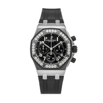 Audemars Piguet Royal Oak Offshore Lady Stahl 37mm Schwarz Arabisch