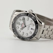 Omega Steel Automatic White 42mm new Seamaster Diver 300 M