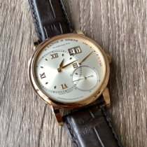 A. Lange & Söhne Red gold Manual winding Silver (solid) Roman numerals pre-owned Grand Lange 1
