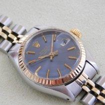 Rolex Lady-Datejust Acero y oro 26mm Azul Sin cifras