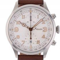 Mercure Aviatik 1915 Chronograph Stahl Automatik Lederband...